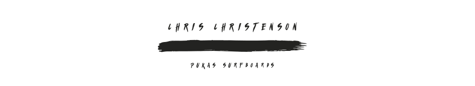 Pukas Surf Surfboards Water Lion by Chris Christenson